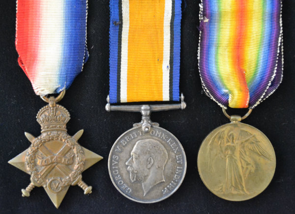 Great War History Hub Whitchurch Shropshire Medals Front Image